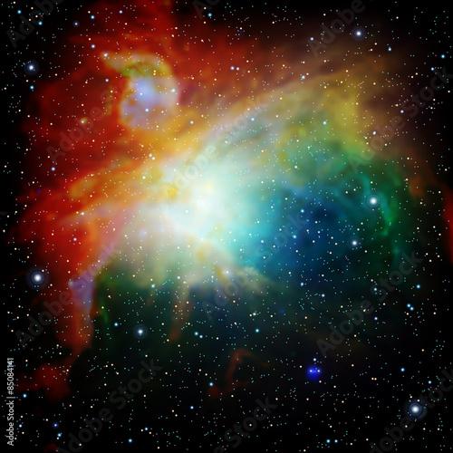 kolorowy-wszechswiat-wypelniony-mglawica-i-galaktyka-gwiazd