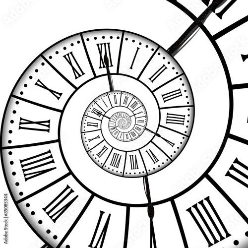 Obraz na płótnie Time spiral, isolated on white background