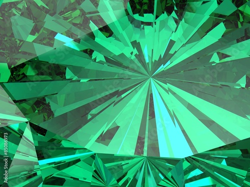 perfect emerald  isolated on a white background - 85086973