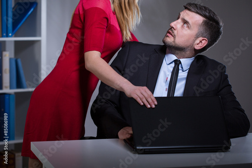Fototapeta Sexual harassment in the workplace obraz