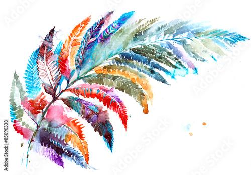 Canvas Prints Paintings fern