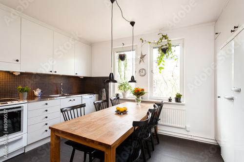 Fotografie, Obraz  inredningsbild av ett kök