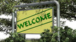 welcome - sign in the nature