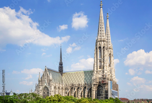 The Votive Church in Vienna, Austria