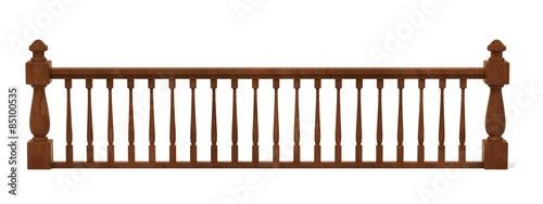 3d render of wooden railings Fototapete