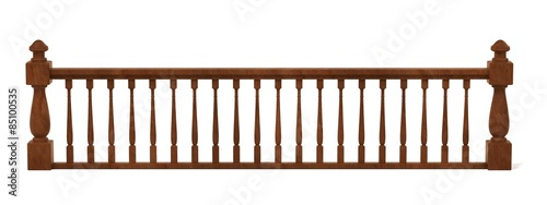 Fotografie, Obraz 3d render of wooden railings