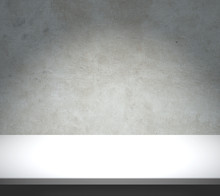 White Table With Concrete Background