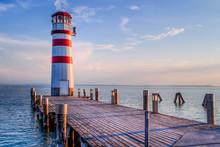 Red Striped Lighthouse