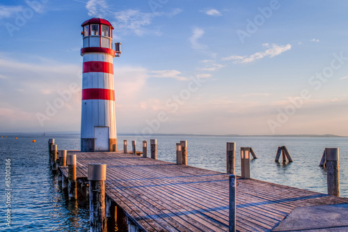 Photo Stands Lighthouse red striped lighthouse