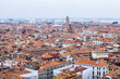 VENICE, ITALY. The top view from San Marco kampanilla