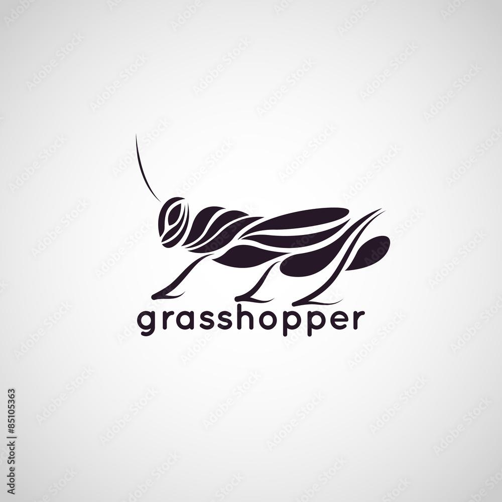Fotografie, Obraz grasshopper logo vector