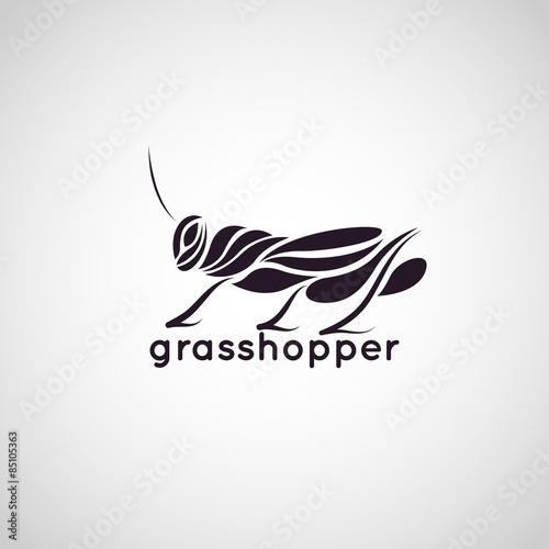 Fotografia, Obraz grasshopper logo vector