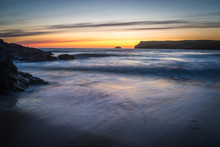 After The Sunset At Polzeath Cornwall