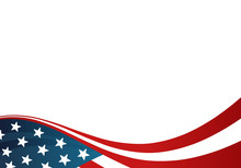 Usa Transparent Flag Card