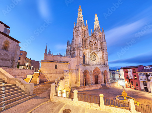 Burgos Cathedral in the evening light