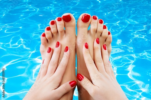 Poster Pedicure Spa, closeup, isolated.