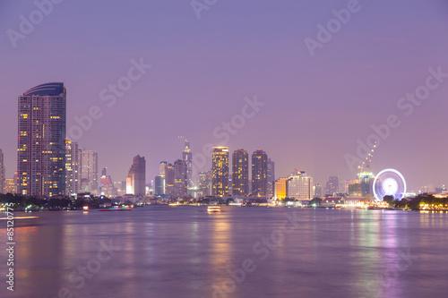 Bangkok city at night Poster