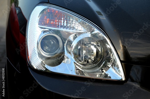 Car Headlamp Reflector Buy This Stock Photo And Explore Similar