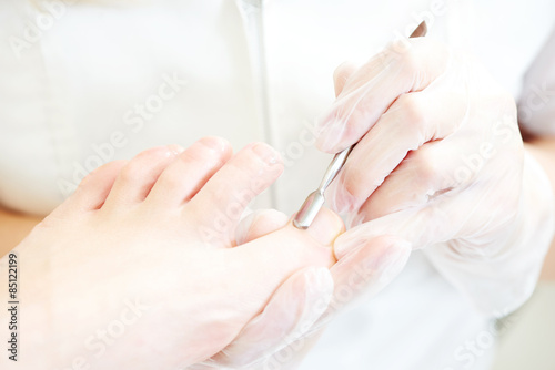 Poster Pedicure Pedicure in beauty salon