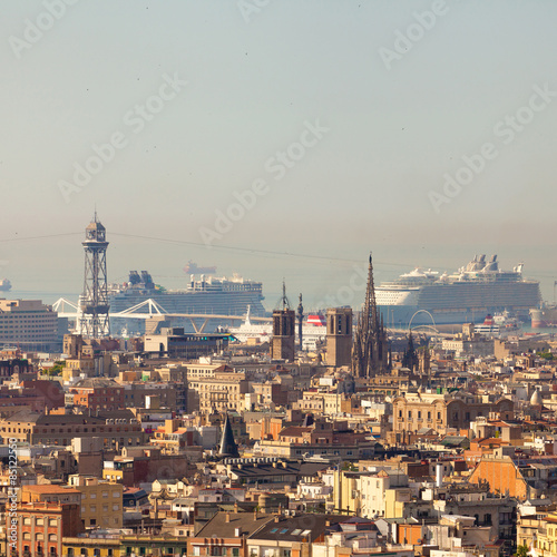 Photo sur Toile Europe Centrale Panorama view of Barcelona