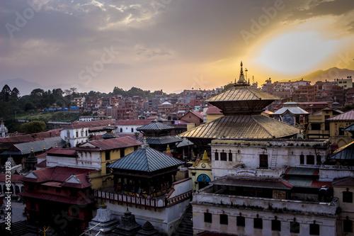 Staande foto Xian Sonnenuntergang in Pshupatinah 2