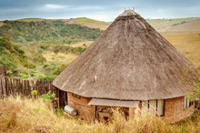 Rondavel, Traditional African House, Kwazulu Natal, South Africa