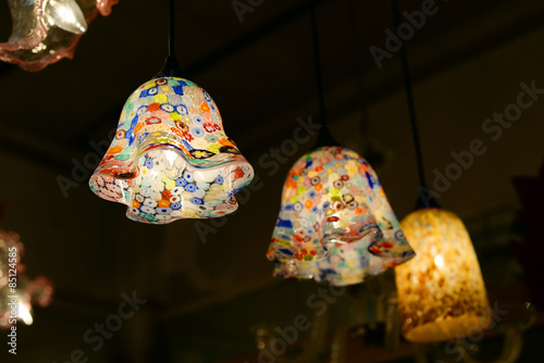 Traditional Venetian lamps from Murano glass Canvas Print