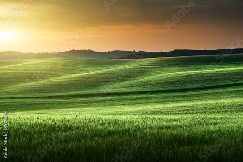 tuscany sunset, Italy Canvas Print