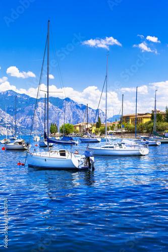 Cadres-photo bureau Voile Italian holidays - sailing in Lago di Garda