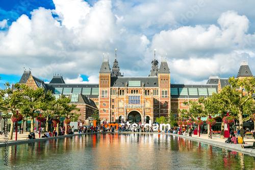 Canvas Prints Amsterdam Rijksmuseum Amsterdam museum with words I Amsterdam