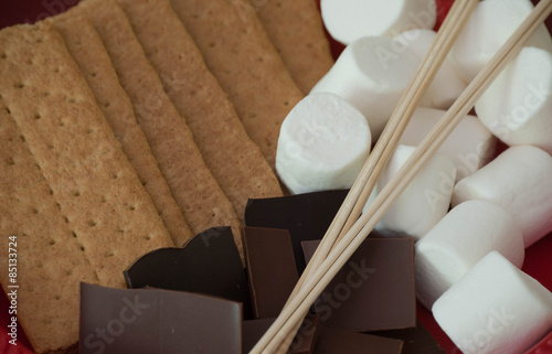 Fotografie, Obraz  S'more Ingredients