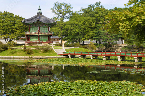 Gyeongbok Palace pagoda, Seoul, Korea Poster