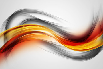 Panel Szklany Dym Awesome Colorful Waves Abstract Background