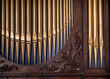 canvas print picture - Pipe Organ Detail