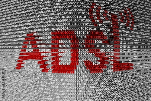 Photo binary code asymmetric digital subscriber line