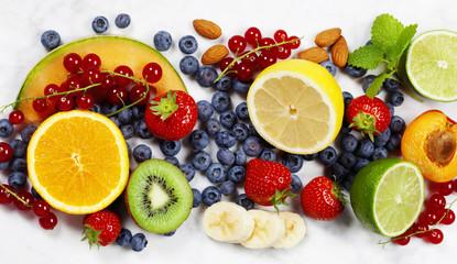 fototapeta asortyment owoców