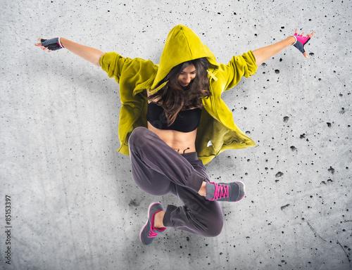 Teenager girl dancing hip hop e35d2c34b5