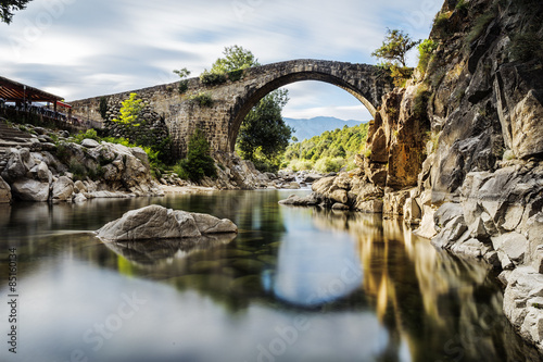 Papiers peints Pont The bridge Romano. Candeleda. Spain