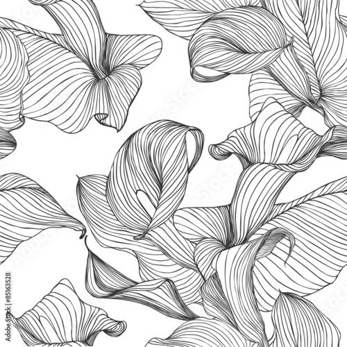 Tapety Kwiaty bezszwowe-wektor-wzor-kalia-kwiaty