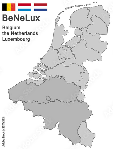 BeNeLux countries Wallpaper Mural