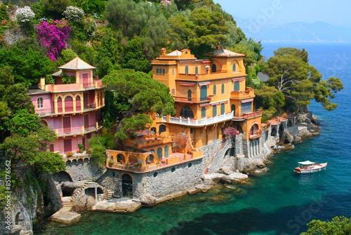 Seaside villas in Italy Fototapet