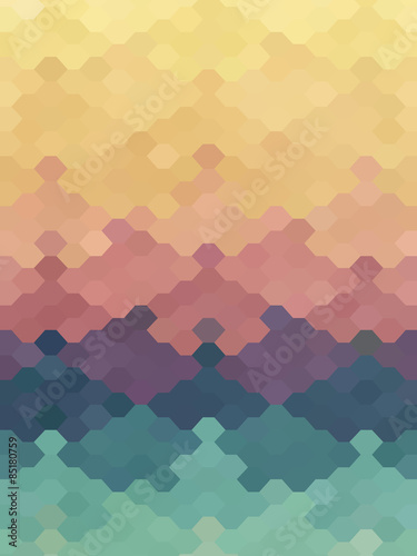 Photo  Abstract jigsaw puzzle hexagon pastel color wallpaper