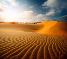 Red Dunes Near The Town Of Mui Ne