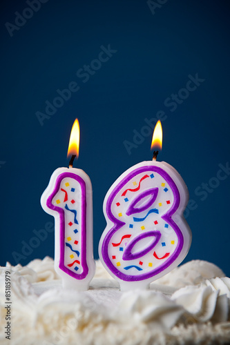 Cake Birthday With Candles For 18th