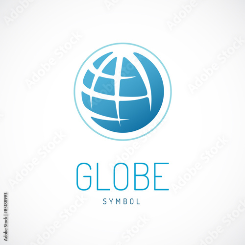 Fototapeta Earth  logo template. Globe sign. obraz