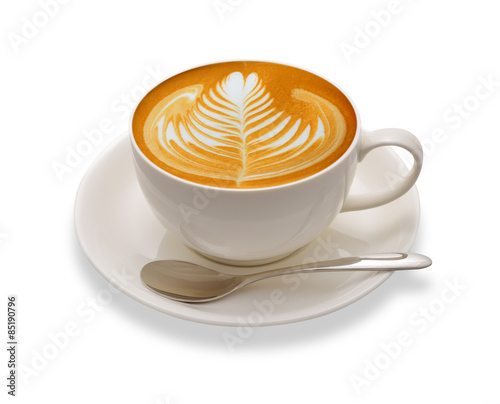 Obraz na plátně Latte art , coffee isolated on white background