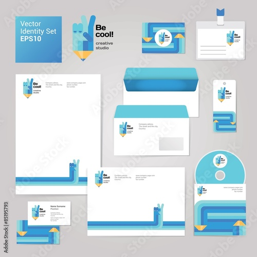 Art creative drawing corporate identity style set with envelope art creative drawing corporate identity style set with envelope blank business card and disk reheart Gallery