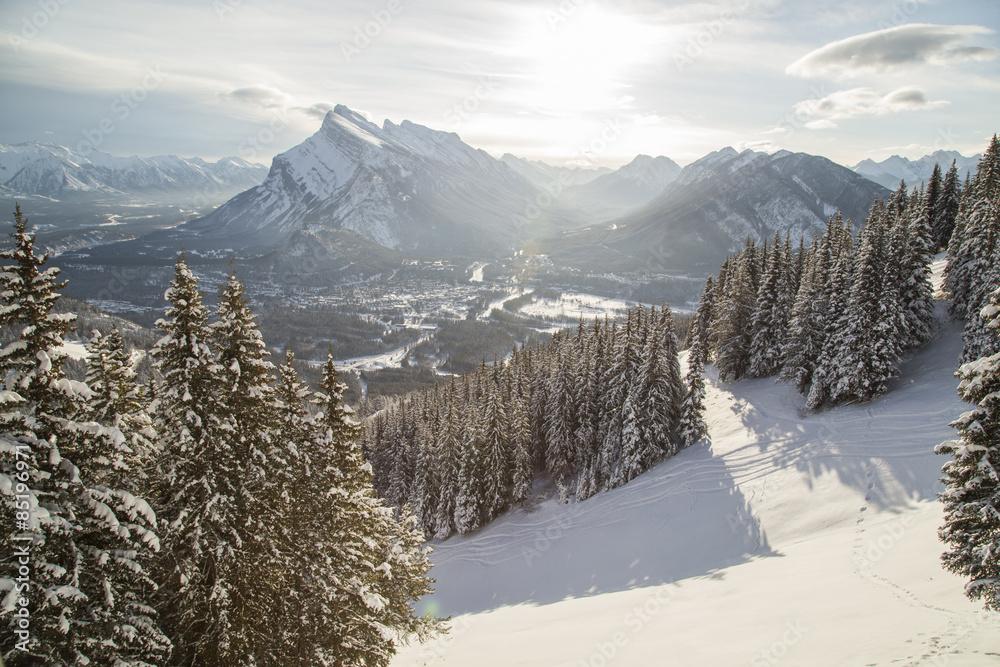 Fototapeta Banff Townsite from Mt Norquay