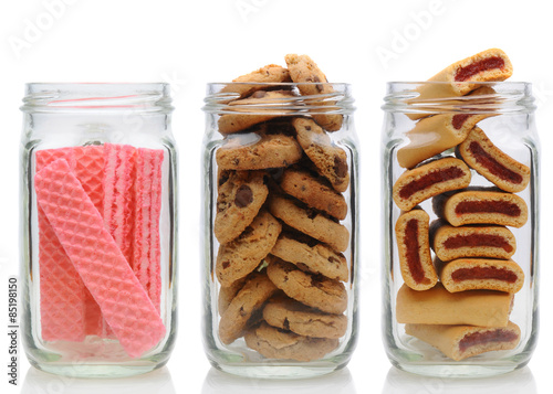 Canvas Three Cookie Jars