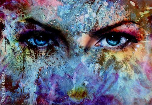 oczy-kobiet-i-efekt-kolorystyczny-makijaz-i-kontakt-wzrokowy